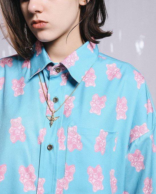 ピンククマ半袖シャツの画像2